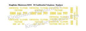 NI Confidential Telphone numbers Type 1- Yellow